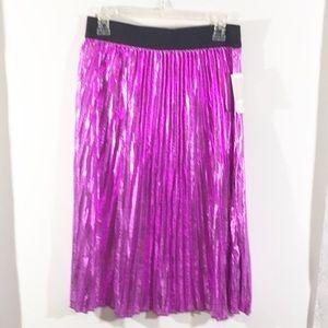 NWT Lularoe Jill metallic pleated skirt elegant